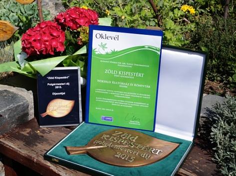 Zöld Kispestért díjat kapott a Wekerlei Kultúrház