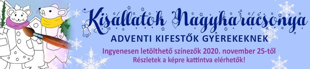 KISÁLLATOK NAGYAKARÁCSONYA - ADVENTI KIFESTŐK